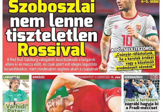 Szoboszlai sosem lenne tiszteletlen Rossival; Gyulay Zsolt és a nyereséges Hungaroring