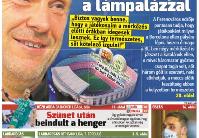 Rebrovnak ismerős a Barca legyőzésének érzése; Milák megszenvedett a vírussal