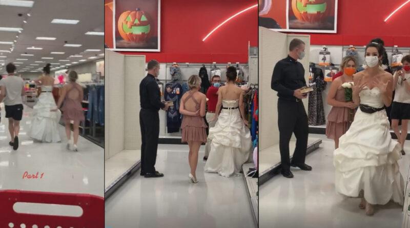 Esküvői ruhában, lelkésszel rontott be a vőlegénye munkahelyére, hogy ott azonnal házasodjanak össze, különben vége