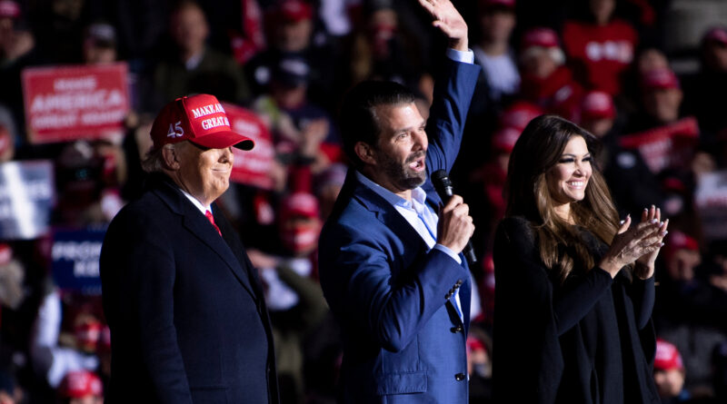 Koronavírusos Donald Trump idősebb fia