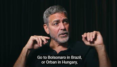 George Clooney az új filmjéről beszélt egy interjúban, amikor hirtelen orbánozott egyet