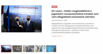 A kormányzati koronaoldal is Orbán brüsszeli győzelmét zengi